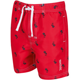 Regatta Skander II Shorts Kids, true red palm print